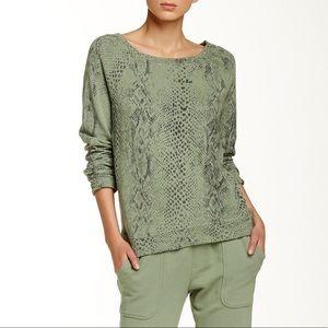 Soft Joie Snake Print Sweatshirt Pullover